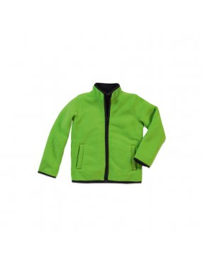 Dětská fleece bunda (STEDMAN Active Teddy Fleece Jacket)>zelená (kiwi)>M