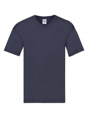 Pánské triko(FRUIT OF THE LOOM Original V Neck T)>modrá (navy)>2XL