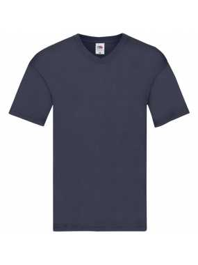 Pánské triko(FRUIT OF THE LOOM Original V Neck T)>modrá (navy)>5XL