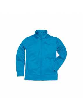 Pánská fleece mikina (STEDMAN Active Bonded Fleece Jacket)>modrá (artic)>XL