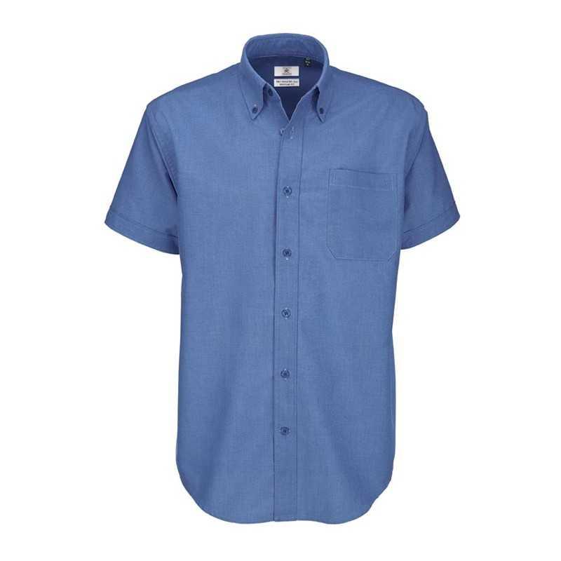Pánská košile (B C OXFORD SSL MEN) modrá (chip) S - Reklamní ... 487d18d34f