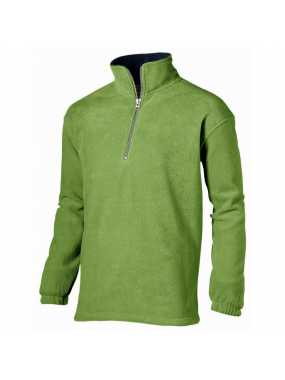 OUT-Unisex fleece mikina ( TAOS QUARTER ZIP BY US BASIC ) > zelená ( medium ) / modrá ( na