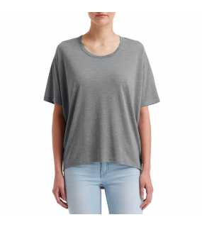 "Dámské triko (Anvil ""WOMEN'S FREEDOM TEE"")>šedá (heather graphite)>XL"