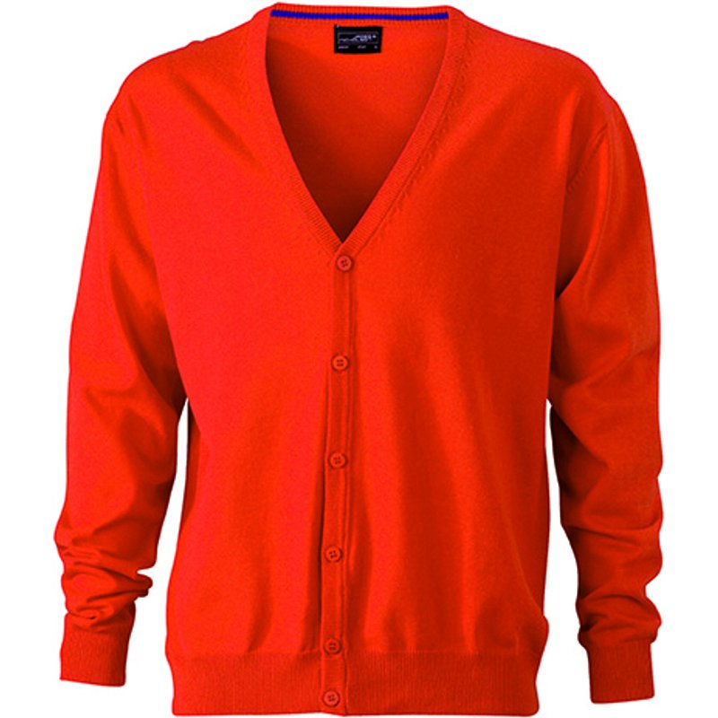 8ed57624689 Pánský svetr (JN Men s V-Neck Cardigan) oranžová (dark) XL ...