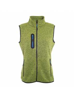 Dámská vesta(JN Ladies Knitted Fleece Vest)>zelená (kiwi melange) / modrá (royal)>M