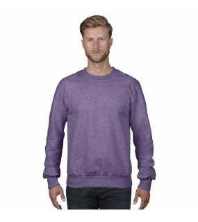 Pánská mikina(ANVIL ADULT CREWNECK FRENCH TERRY)>purpurová (heather)>L