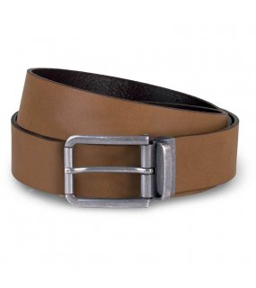 "Pásek (K-UP ""RAW EDGE LEATHER BELT - 35MM"")>hnědá (cognac)"