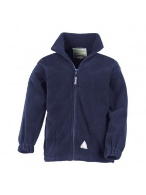 Dětská bunda (RESULT JUNIOR FULL ZIP ACTIVE FLEECE)>modrá (navy)>XS