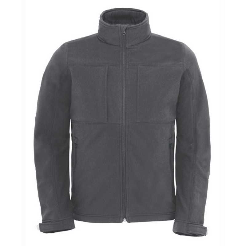 Pánská bunda (B C HOODED SOFTSHELL MEN) šedá (dark) 2XL - Reklamní ... 82ce4d35d1