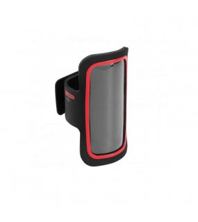 Pouzdro na mobil(KIMOOD SMARTPHONE ARM-HOLDER WITH COLOURED CONTOUR)>červená