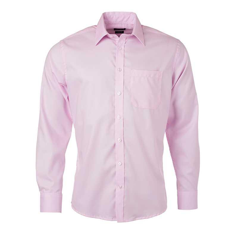 Pánská košile(JN Mens Shirt Longsleeve Micro-Twill) růžová (light) 4XL 49cb85c6b7