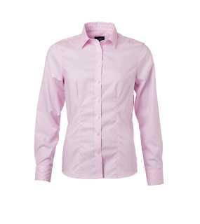 58583eeda07 JAMES NICHOLSON · Dámská košile(JN Ladies Shirt Longsleeve  Micro-Twill) růžová (light)