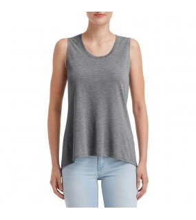 "Dámské tílko (Anvil ""WOMEN'S FREEDOM SLEEVELESS TEE"")>šedá (heather graphite)>M"