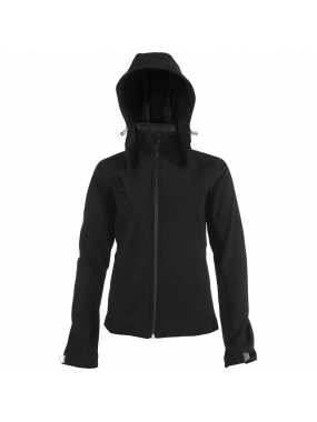 Dámská softshell bunda (KARIBAN LADIES HOODED SOFTSHELL JACKET)>černá>M