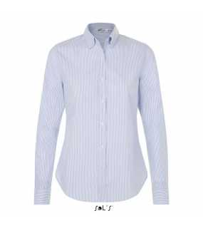 Dámská košile (SOL'S BEVERLY WOMEN STRIPED SHIRT)>bílá (stripped blue)>XL