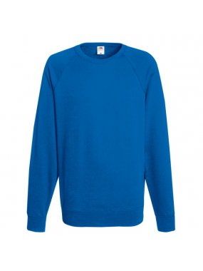 Pánská mikina (Fruit of the Loom-LW RAGLAN SWEAT)>modrá (royal)>L