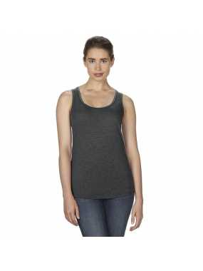Dámské tílko (ANVIL WOMEN S TRI-BLEND RACERBACK TANK)>šedá (heather dark)>L