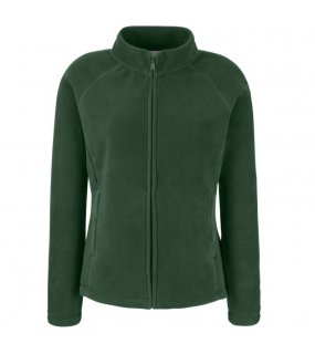 Dámská fleece bunda (FRUIT OF THE LOOM Lady-Fit Fleece)>zelená (bottle)>M