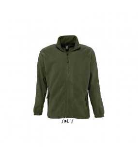 Unisex fleece mikina (Sols UNISEX Zipped JACKET)>zelená (army)>XL