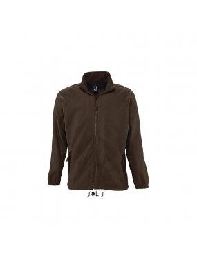 Unisex fleece mikina(SOLS UNISEX ZIPPED JACKET)>hnědá (darkchocolate)>3XL