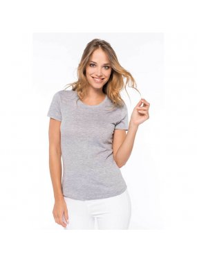Dámské triko (KARIBAN LADIES 'CREW NECK SHORT SLEEVE T-SHIRT)>šedá (oxford)>3XL