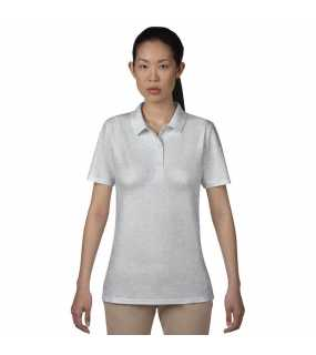 Dámská polokošile(ANVIL WOMENS DOUBLE PIQUÉ POLO)>šedá (heather)>2XL