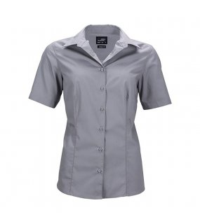 Dámská košile (JN Ladies Business Shirt Shortsleeve)>šedá (steel)>M