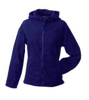 Dámská fleece bunda (JN Girly Microfleece Jacket Hooded)>fialová (aubergine)>L