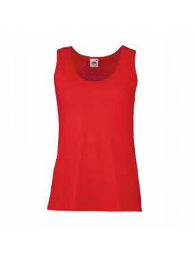 Dámské tílko (FRUIT OF THE LOOM New Lady-Fit Valueweight Vest )>červená>2XL