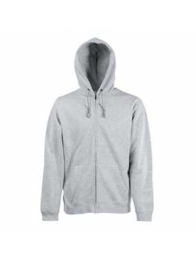 Pánská mikina (FRUIT OF THE LOOM Hooded Sweat Jacket )>šedá (heather)>L