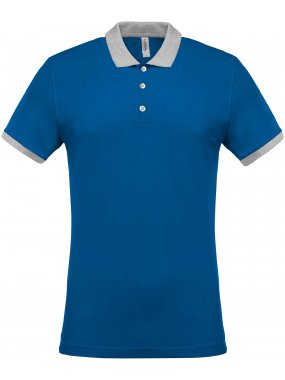 "Pánská polokošile(Kariban ""MEN'S TWO-TONE PIQUÉ POLO)>modrá(light royal)/šedá(oxford)>4XL"