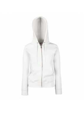 Dámská mikina (FRUIT OF THE LOOM Lady-Fit Hooded Sweat Jacket)>bílá>XL