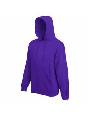Pánská mikina (FRUIT OF THE LOOM Hooded Sweat )>fialová>2XL