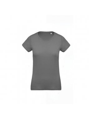 Dámské triko (KARIBAN LADIES 'ORGANIC COTTON CREW NECK T-SHIRT)>šedá (storm)>XL