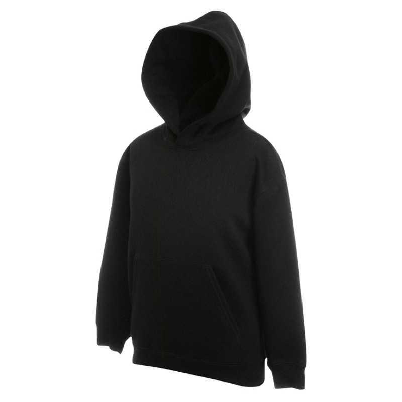 Dětská mikina (FRUIT OF THE LOOM Kids Hooded Sweat ) černá 5 6 ... 3478e489fb