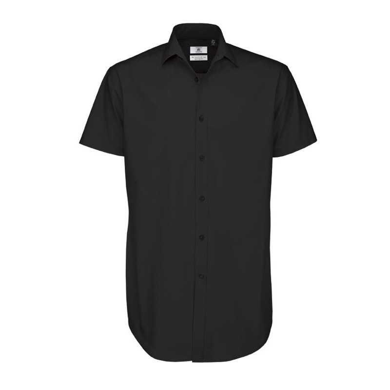 b02b2d3f9a Pánská košile (B&C BLACK TIE SSL/MEN)>černá>3XL - Reklamní předměty ...