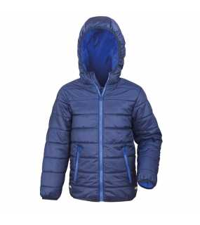 Dětská bunda (RESULT JUNIOR / YOUTH PADDED JACKET)>modrá (navy) / modrá (royal)>XL