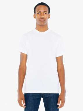 Unisex tričko (AMERICAN APPAREL UNISEX POLY-COTTON SHORT SLEEVE T-SHIRT)>bílá>XL