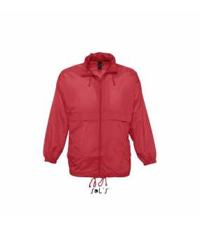 Unisex bunda (Sols SURF UNISEX WATERPROOF WINDBREAKER)>červená>XL