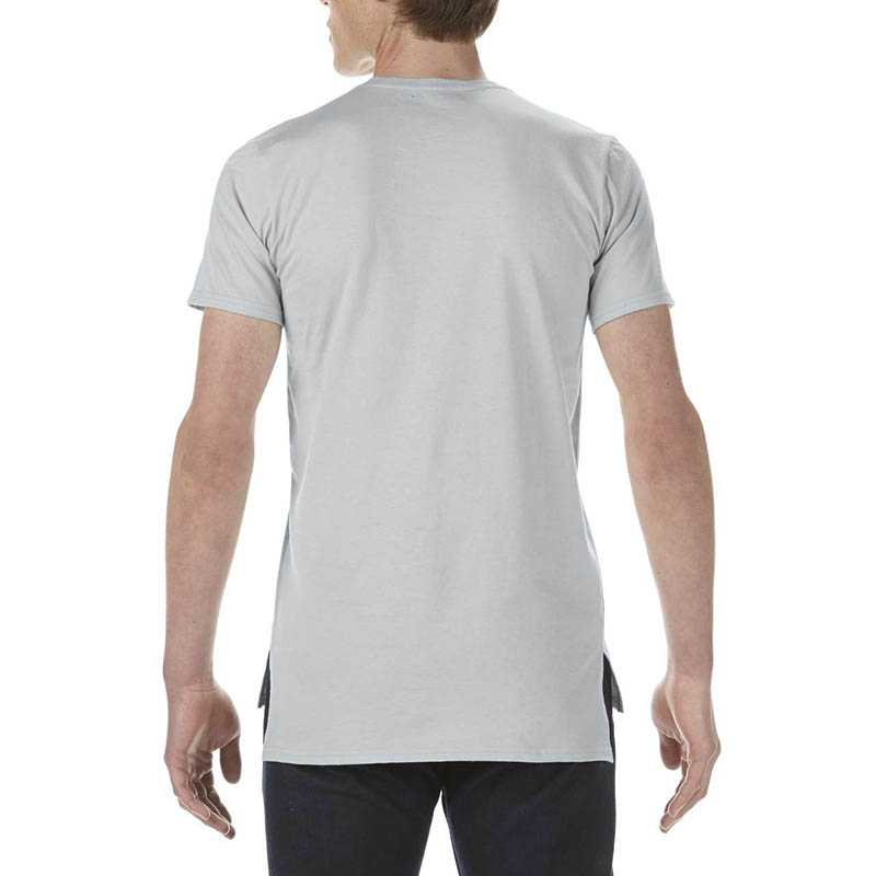 Pánské triko (ANVIL ADULT FASHION BASIC LONG & LEAN TEE)>stříbrná>XL