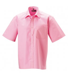 c487787fdce Pánská košile (Short Sleeve Pure Cotton Easy Care Poplin RUSSELL) růžová  (bright