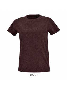 Dámské triko (SOL'S IMPERIAL FIT WOMEN - ROUND NECK Fitted T-SHIRT)>červená (Oxblood)>2XL