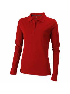Dámská polokošile (Oakville Ladies long sleeve Polo Elevate)> červená> XS