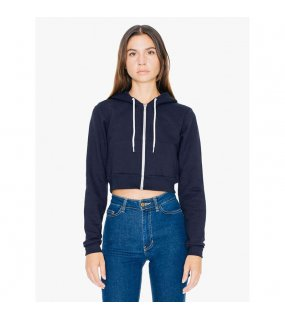 Dámská mikina (AA WOMEN'S FLEX FLEECE CROPPED ZIP HOODED SWEATSHIRT)>modrá (navy)>M
