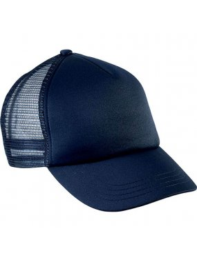 5 panelová kšiltovka (K-UP KIDS 'TRUCKER MESH CAP - 5 PANELS)>modrá (navy)