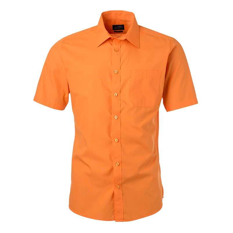 Pánská košile(JN Mens Shirt Shortsleeve Poplin) oranžová XL ... 4075eb85df