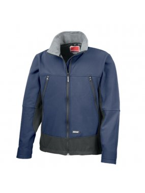 Unisex bunda (RESULT SOFT SHELL ACTIVITY JACKET)>modrá (navy) / černá>M