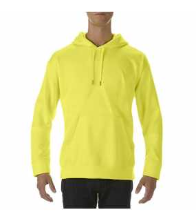 Unisex mikina (Gildan PREFOMANCE® ADULT TECH HOODED SWEATSHIRT)>zelená (safety)>M