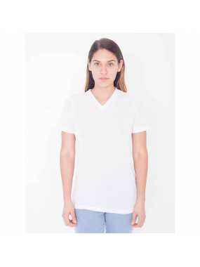 Dámské triko (AA WOMEN'S Sublimation CLASSIC SHORT SLEEVE V-NECK T-SHIRT)>bílá>S