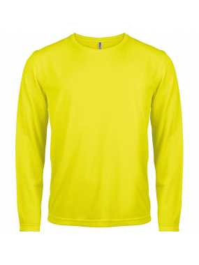 Pánské tričko(PROACT MENS LONG SLEEVE SPORTS T-SHIRT)>žlutá (fluorescentyellow)>2XL